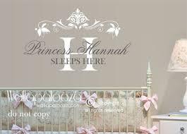 Items Similar To Princess Wall Decor Princess Sleeps Here Wall Decal Princess Wall Decal Girls Name Nursery Wall Decal Girls Name Decal Wall Art On Et
