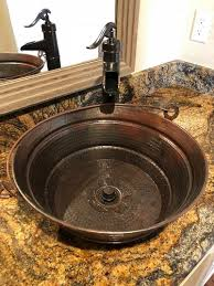 round copper vessel sink 15 rustic