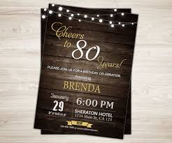 Invitacion Sorpresa De Cumpleanos 80 Para Los Hombres Etsy