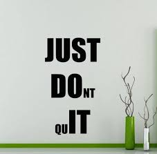 Just Do It Wall Decal Fitness Gym Motivational Quote Vinyl Etsy