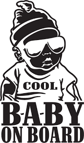 Cool Baby On Board Decal Sticker For Car Window Laptop And More 100 Yoonek Graphics