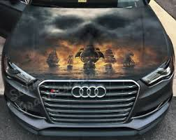 Vinyl Car Hood Wrap Full Color Graphics Decal Pirate S Ships Skull Cloud Sticker Ebay