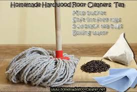 homemade hardwood floor cleaners tea