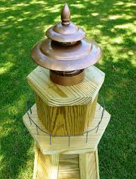 build a 4 ft wooden lawn lighthouse