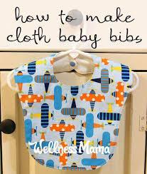 how to make cloth baby bibs wellness mama