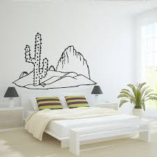 Amazon Com Wall Decal Vinyl Cactus Plant Flower Africa Barb Desert Mountain Landscape M1121 Handmade