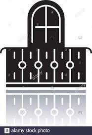 Balcony Drop Shadow Black Glyph Icon Interior Element Vintage Design Apartment Veranda European Terrace With Fence Architecture Building Exterior Stock Vector Image Art Alamy