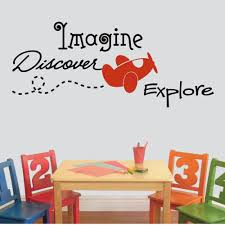 Imagine Discover Explore Vinyl Wall Decal Decal The Walls