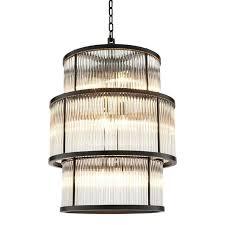 bronze 3 tier chandelier eichholtz
