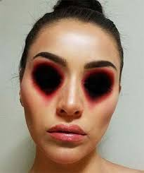easy scary face makeup for saubhaya