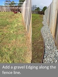 Gravel Along Fence Line Google Search In 2020 Small Backyard Landscaping Backyard Fences Cheap Backyard