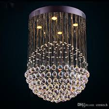 modern led k9 ball crystal chandeliers