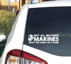 U S Marine Corps Brothers Decal Sticker Usmc Military Seal Car Truck Window Ebay