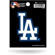 Amazon Com La Dodgers Decal Car Truck Window Sticker Sports Clothing