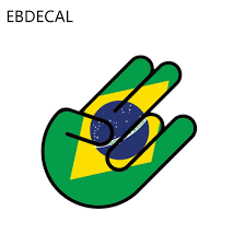 Ebdecalstyling Brazil Flag Shocker Car Bumper Window Wall Suitcase Decal Sticker Decals Diy Decor Ct7189 Car Stickers Aliexpress