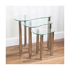 qihang uk nesting tables set of 3 clear
