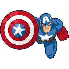Captain America Shield Bash Cartoon Character Wall Art Sticker Vinyl Decals Girls Boys Children Baby Bedroom House School Wall Decor Removable Sticker Peel And Stick Size 10x8 Inch Walmart Com Walmart Com