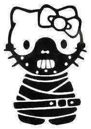 Hello Kitty Jason Friday 13th Halloween Gothic Vinyl Sticker Decal Transfers 2 45 Picclick Uk