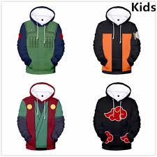 2 đến 14 tuổi trẻ em Áo Hoodie Anime Naruto 3D in hình khoác Áo nỉ bé trai  bé gái Uchiha Itachi Kakashi Áo Khoác trẻ em quần áo|