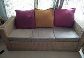 netted malaysian cane sofa set with