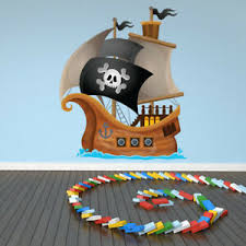 Jolly Roger Pirate Ship Wall Decal Sticker Ws 41232 Ebay