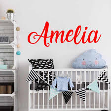 Personalized Wall Sticker Name Wall Decal Nursery Decor Boys Girls Decal Vinyl Wall Decal Beauty Salon Wall Decals Wall Stickers Aliexpress