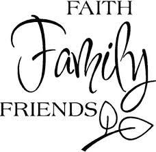 Faith Family Friends Vinyl Decal