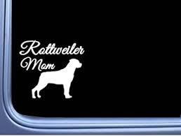 Amazon Com Ez Stik Rottweiler Mom J842 6 Wide Sticker Decal Dog Automotive