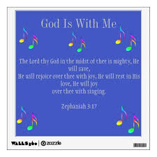 God Is With Me Wall Decal Zazzle Com