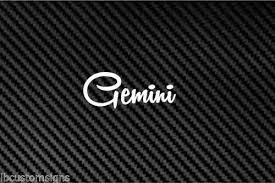 Gemini Vinyl Car Decal Sticker Astrology Horoscope Sign Twins Rainbowlands Lk