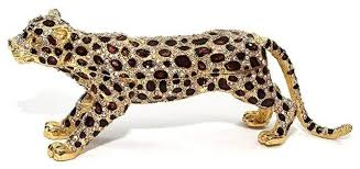 gold brown leopard 6 inch jewelry