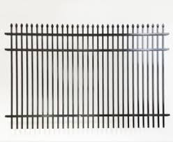 Wholesale China Factory Steel Fence Mounting Bracket Waterproof Pvc Coated Wall Boundary Steel Grills Fence Design China Pool Fencing Cast Iron Fence