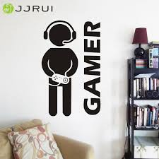 N53 Game Room Decals Play Room Wall Designs Wallpaper Decals Kids Gaming Room