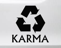 Karma Vinyl Decal Recycle Destiny Fate Die Cut Sticker