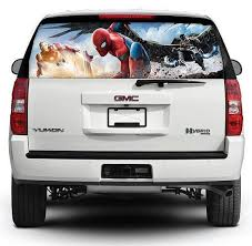 Spiderman Car Decal Pick Up Truck Perforated Rear Windows Graphic Decal Spiderman Decal Perforated V Car Decals Vinyl Rear Window Decals Car Window Stickers