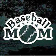 Baseball Mom Decals Car Window Stickers Decal Junky