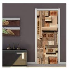 Amazon Com Decal 3d Print Sticker Geometric Wood Letter Picture Self Adhesive Home Decor Paper Cabinet Door Art Removable Poster 77x200cm Baby