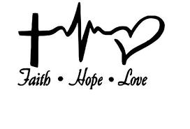 Faith Hope Love Vinyl Decal Sticker Etsy