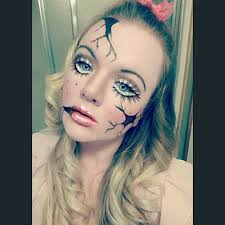 how to do broken doll makeup for