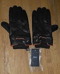 armani jeans mens brown leather gloves