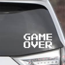 Game Over 8 Bit Classic Gaming Vinyl Decal Atari Nes Car Laptop Window Sticker Ebay