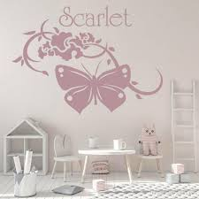Swirl Butterfly Wall Decal For Girls Bedroom Customzied Name Sticker Decor Teenage Room Classroom Decoration Vinyl Wall Decals Mario Wall Stickers Mirror Wall Decals From Joystickers 11 4 Dhgate Com
