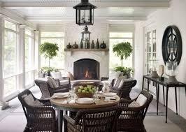 porch fireplace sunroom decorating