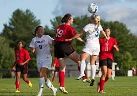 Laura Arnold, of Colby College, in a NCAA Division III soccer game ...