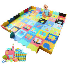 Baby Foam Play Mat With Fence 36 Foam Tiles Ashtonbee