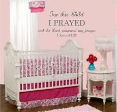 For This Child I Prayed 1 Samuel 1 27 Wall Decor Decal Nursery Scripture Vinyl Ebay