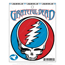 Grateful Dead Steal Your Face 3 In Mylar Sticker Liquid Blue