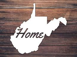 Home West Virginia Decal Wv Home Wv State Decal Yeti Etsy West Virginia Computer Decal Virginia