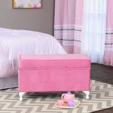 Storage Bench Girl Room Kids Teen Pink Furniture Storage Organizer Gift New Ebay