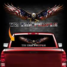 We The People Back Window Decal Gift Shop City